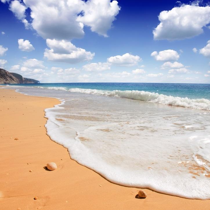 Egremni Beach auf Lefkas im Ionischen Meer