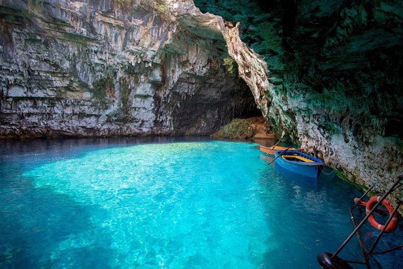 See Höhle von Melissani Insel Kefalonia