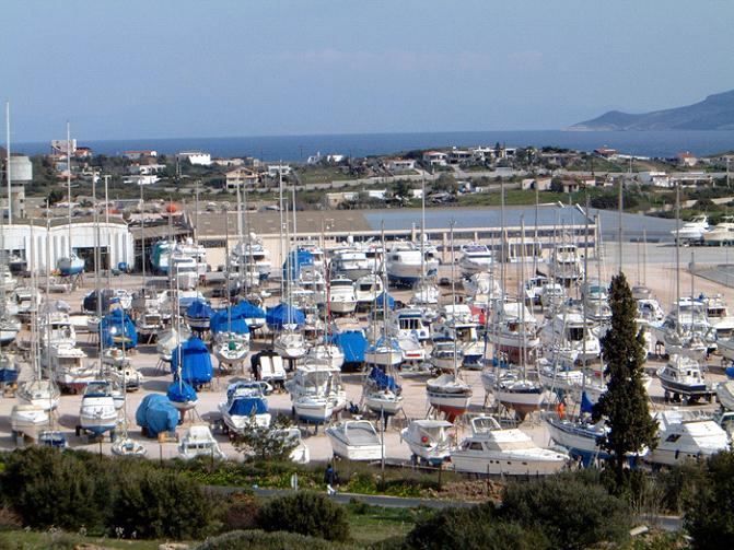 Das Marina Gelände von Lavrion