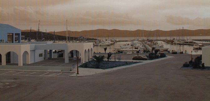 Yachthafen Lavrion bei Nacht