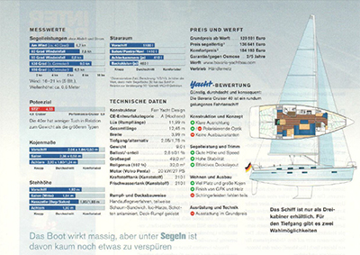 Testbericht Bavaria Cruiser 41