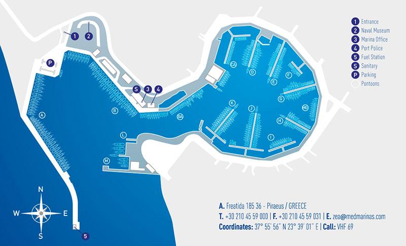 Superyacht-Yachthafen Marina Zea Athen