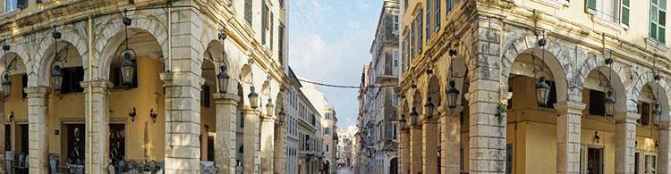 Arkadenhäuser Altstadt Korfu