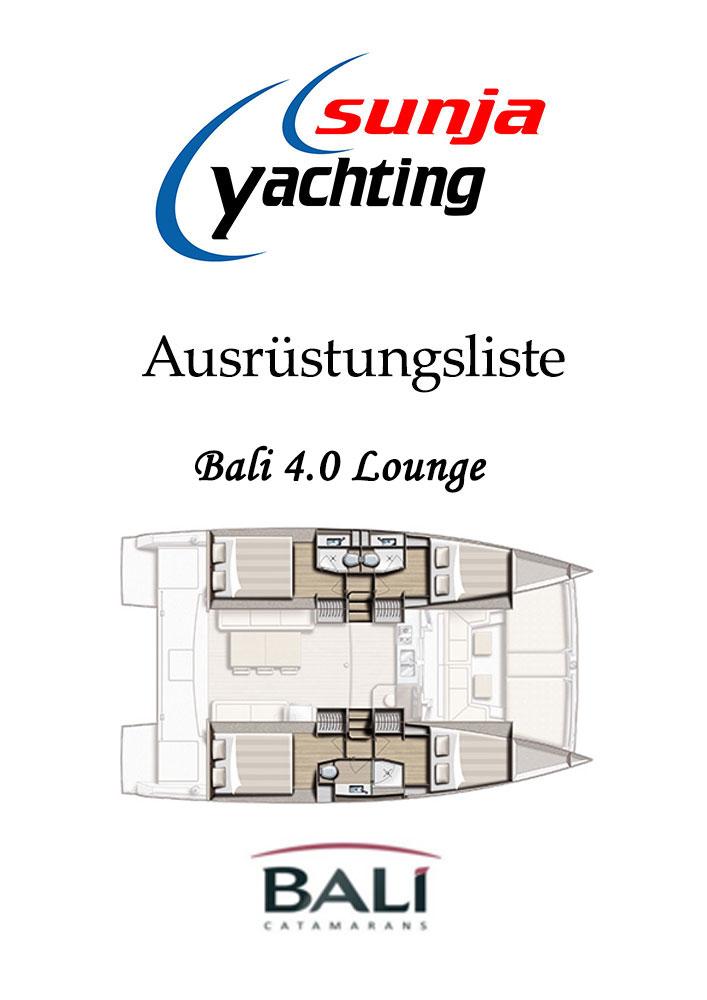 Bali 4.0 Lounge Ausrüstungsliste