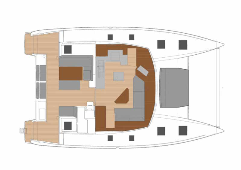 Fountaine Pajot Saona 47 Grundriss Salon