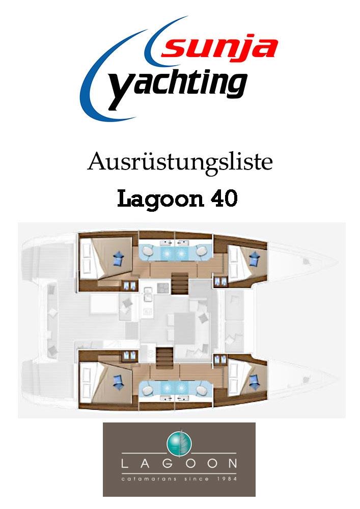Ausrüstungsliste Lagoon 40