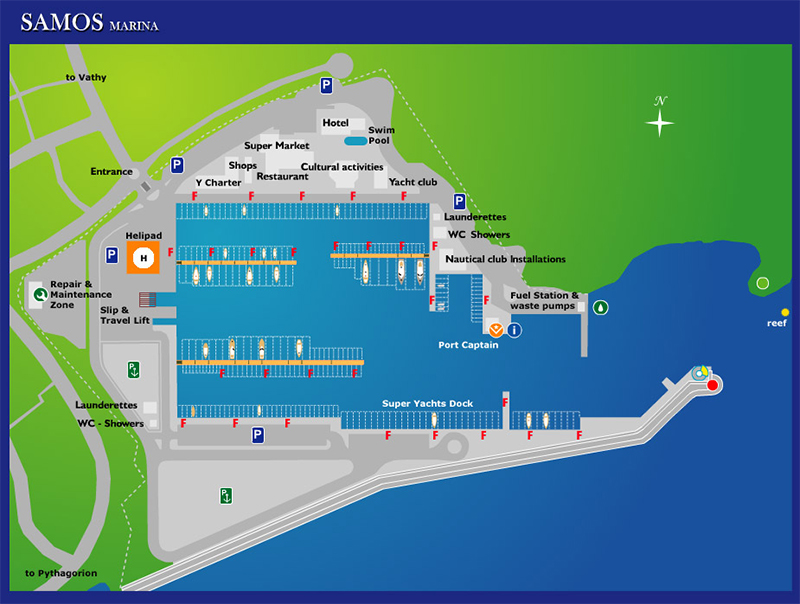 Marina Samos Map