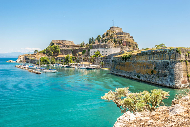 Toller Ausblick auf die Marina Gouvia in Corfu