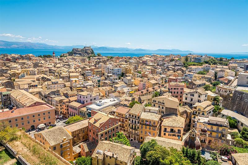 Korfu - Corfu Blick auf die Altstadt